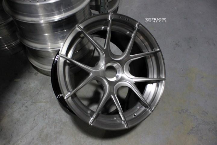 SM5R Deep Concave Duoblock - Brushed Titanium 8