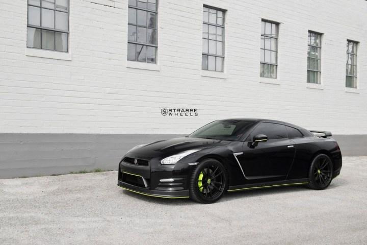 Nissan GT-R - SV1 Deep Concave Monoblock - Satin Black 1