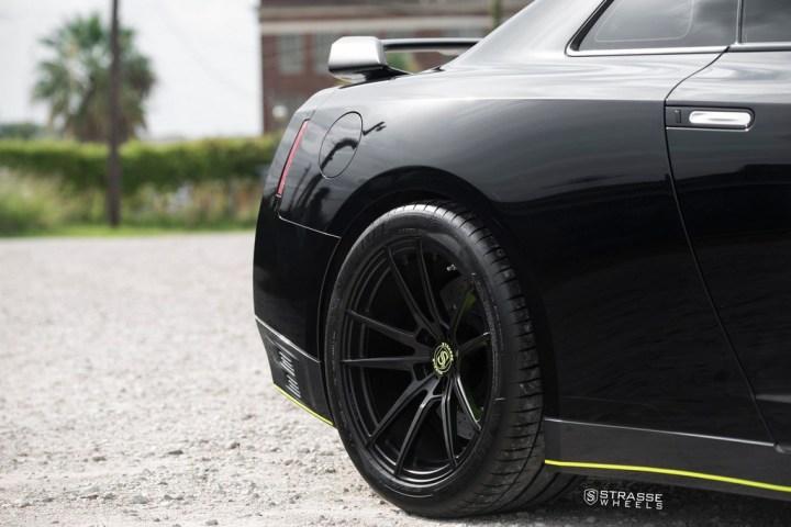 Nissan GT-R - SV1 Deep Concave Monoblock - Satin Black 15