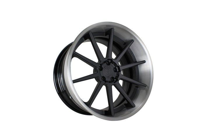 R10 Deep Concave - Satin Black & Gloss Brushed Titanium 9