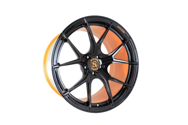 SM5R Deep Concave Monoblock - Gloss Black & Arancio Borealis Barrel 2