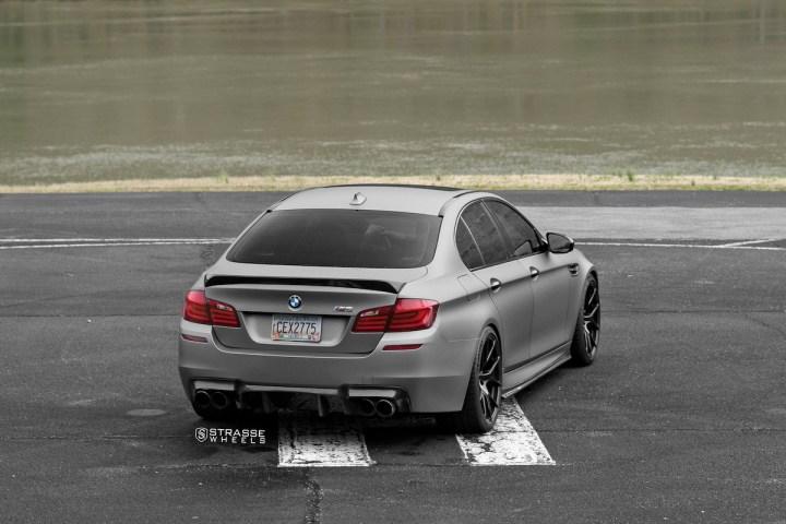 BMW F10 M5 - SM5R Deep Concave Monoblock - Gloss Black 12