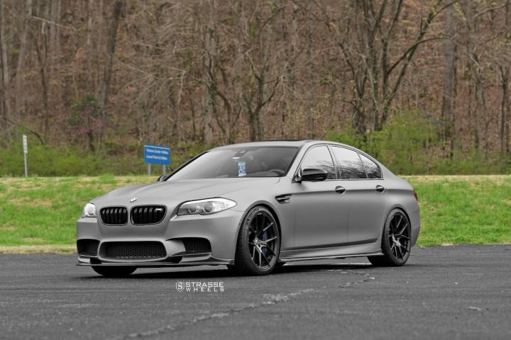 BMW F10 M5 - SM5R Deep Concave Monoblock - Gloss Black 2
