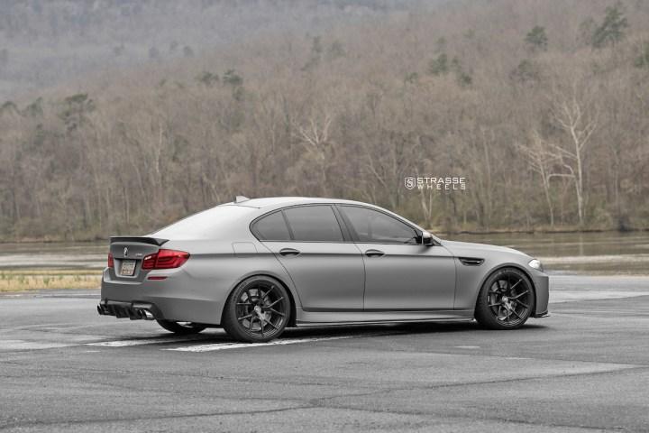 BMW F10 M5 - SM5R Deep Concave Monoblock - Gloss Black 5