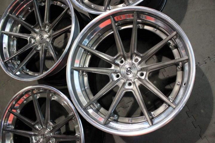 SV1 Deep Concave FS - Gloss Brushed Titanium & High Polish 10