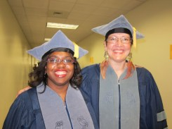 Our two recent PhD graduates (2012). Chandra Jack on the left and Debbie Brock on the right.