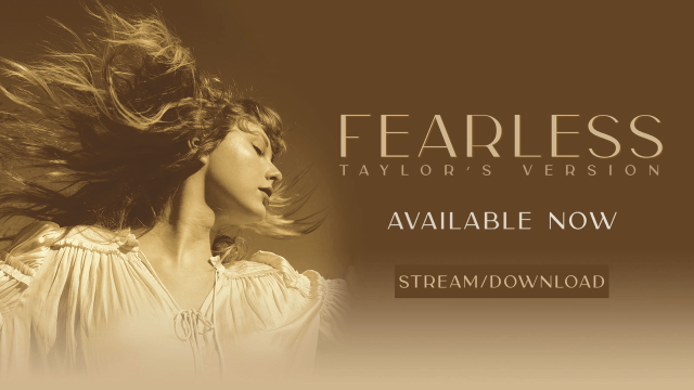 The art for Fearless (Taylor's Version)