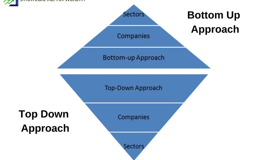 Difference between Top down approach and Bottom Up approach of Researching Stocks