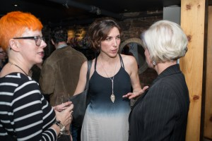 Event attendees in conversation