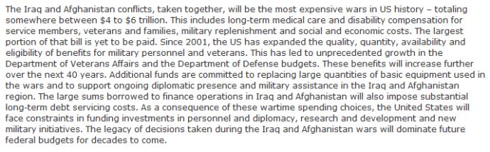 Costs of Iraq - Afghanistan wars_Bilmes-Harvard_2013
