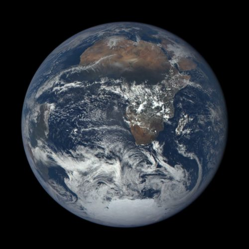 Africa-Middle East, Dec 24, 2015. Photo from DSCOVR-EPIC NASA mission