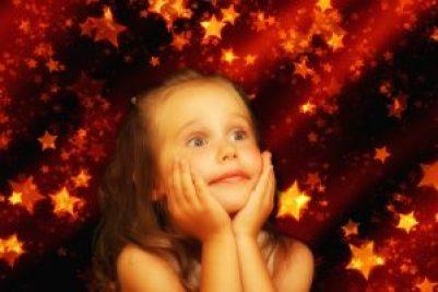 young girl holidays amazement