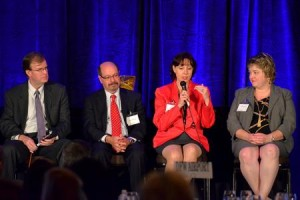 Best Practice Panelist Dale Albrecht, Mario Sincola & Sons; William Behrendt, University of Texas Southwestern Medical Center, Adrianne Court, Transplace and Christie Partee, Cook Children's Health Care System.