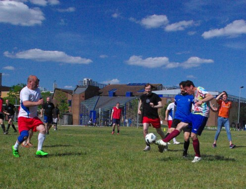 Last game of the 2014-15 season and quantum superpositional celebratory collision match - June 2015