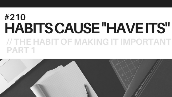 A notepad with a to do list, symbolizing making it important, the subject of this blog