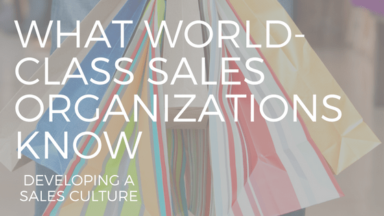 SHOPPING BAGS WITH THE TEXT WHAT WORLD-CLASS SALES ORGANIZATIONS KNOW