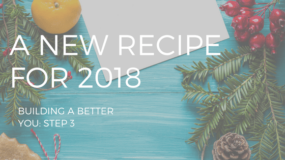 a new recipe for 2018, an image of a recipe card