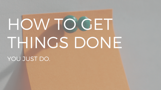 "THE TEXT ""HOW TO GET THINGS DONE"" OVER A PHOTO OF A POST IT NOTE"