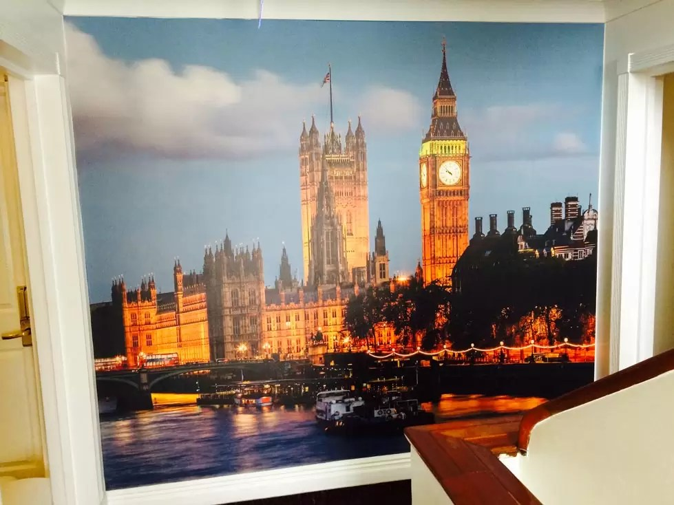 London sky line wall graphic