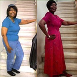 Lauretha lost 25 lbs