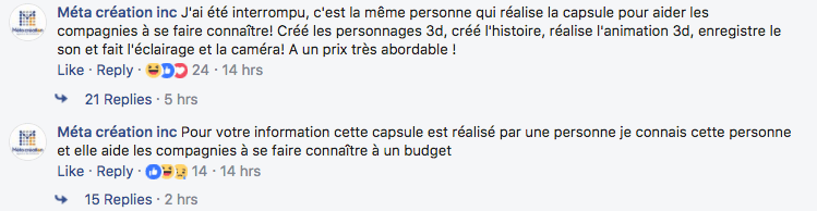 Commentaire de gestion de crise ( bad buzz )