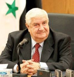Walid Al-Mouallim, ministre des Affaires étrangères de la République Arabe de Syrie.