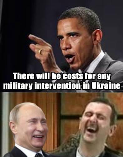 Moronobama vs Putin Assad