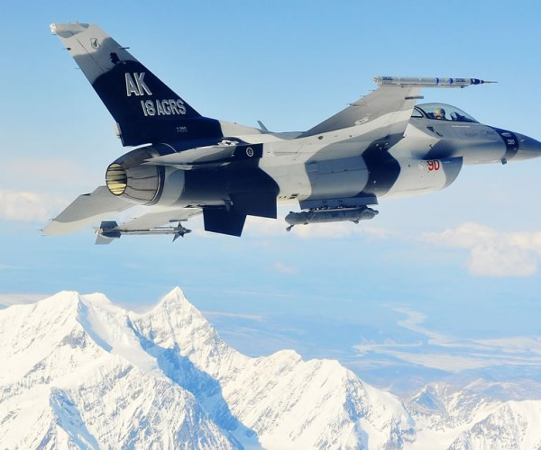18th Aggressor Squadron F-16 Falcons-Red Flag Alaska 19-2 (Gung Ho Vid) 15