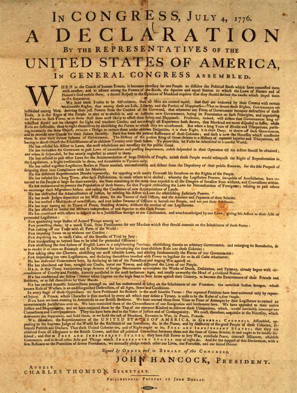 July 4, 1776, American Colonies Declare Independence 2
