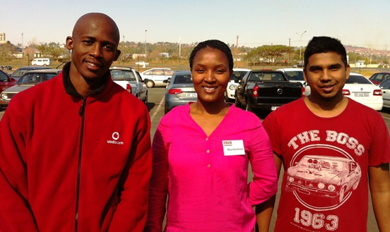 Mark Sibiya (Mechanical), Nondumiso Hlongwane (Industrial), Sanjeev Sing (Mechanical).