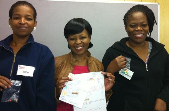 L-R:  Zethu Cele, Ntombikayise Ngcobo, and Nomasonto Sithole.