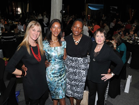 Melanie Veness (CEO of PCB), Bernice Samuels (FNB chief marketing officer), Dr May Mkhize (former KZN First Lady) and Gaynor Young (guest speaker).
