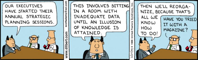 Dilbert Org Model Change Again