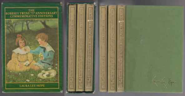 Bobbsey Twins anniversary boxed set issued by Simon & Schuster.