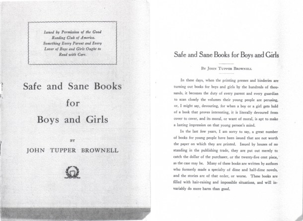 Safe and Sane Books for Boys