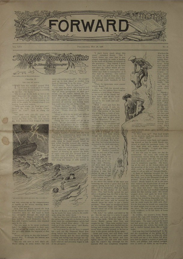 Edward Stratemeyer wrote a story published in 1906 that was set in Hawaii that used information supplied by his brother, George C. Stratemeyer.