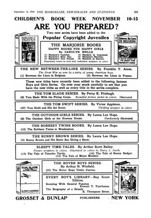 1919 Children's Book Week ad