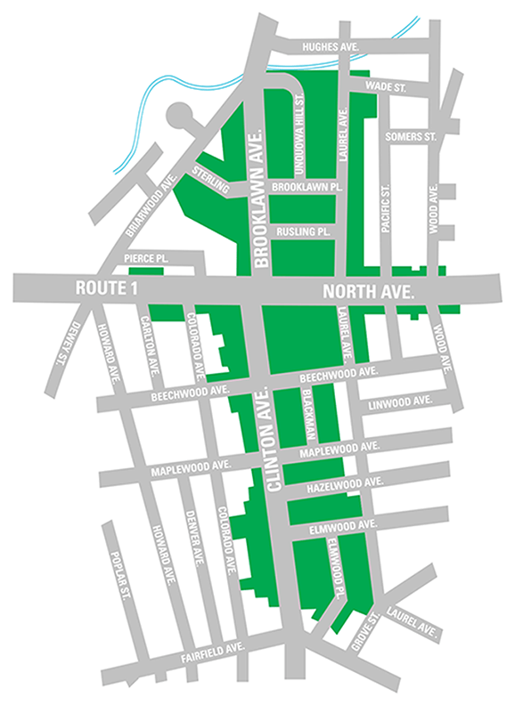Stratfield Historic District map