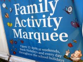 Family Activity Marquee in the cottage grounds ©Stratfordblog.com