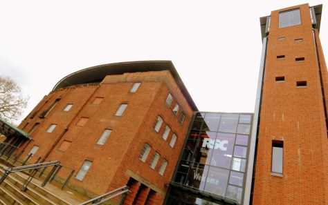 Exterior of the Royal Shakespeare Theatre, Stratford-upon-Avon. Enjoy Afternoon Tea at the RSC ©Stratfordblog.com