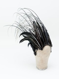 Estelle Kohler's black and silver headdress from The Lion, The Witch and The Wardrobe in 1999. Photo by Lucy Barriball