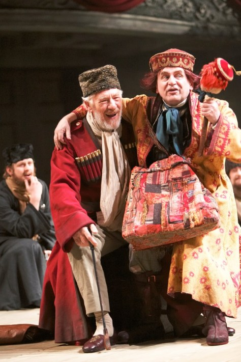 Ian McKellen as King Lear in 2007, wearing one of the RSC costumes up for auction. Photo by Manuel Harlan