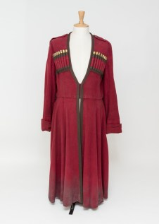 Ian McKellen's red floor length coat from King Lear. Photo by Lucy Barriball