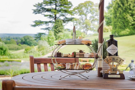 Afternoon tea at The Welcombe - a luxury option for watching the Royal Wedding in Stratford-upon-Avon