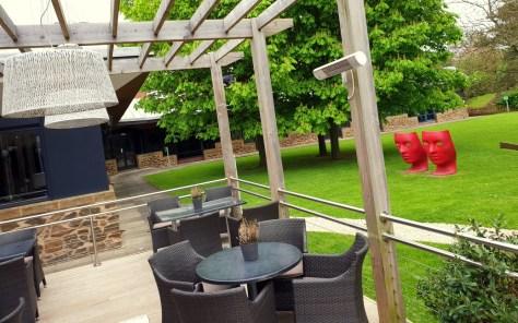 Dining terrace at the Crowne Plaza Stratford-upon-Avon ©Stratfordblog.com