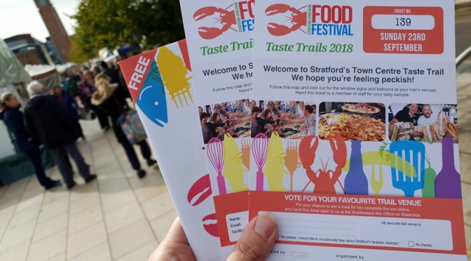 Stratford Town Centre Food Festival Taste Trail