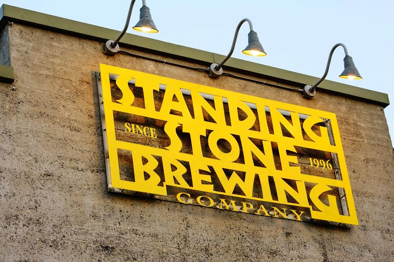 a picture of the front of standing stone brewing company