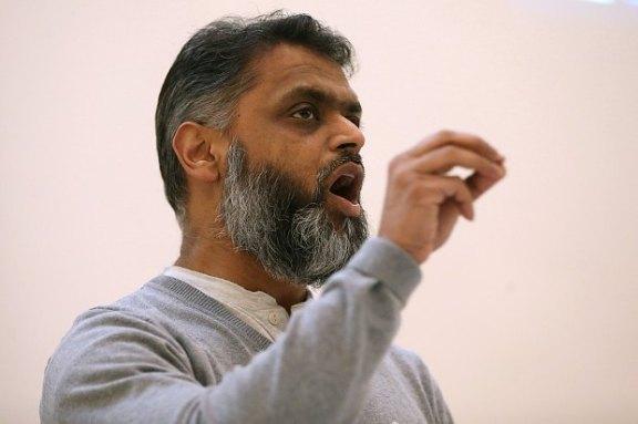 Begg speaks at the Islamophobia Conference 2015 in the Methodist Church, Nicolson Square, Edinburgh, Scotland