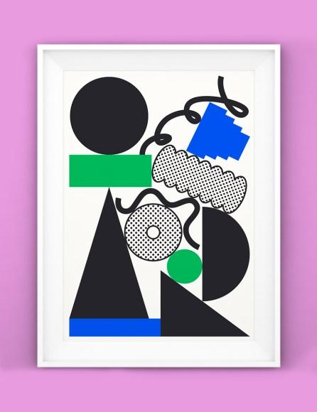 'Stack' riso print