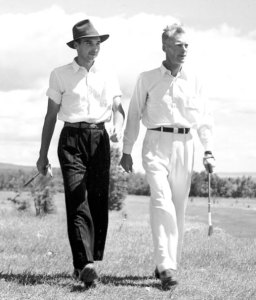 Stan Kolar (left) after his 1942 win over Ford Wray